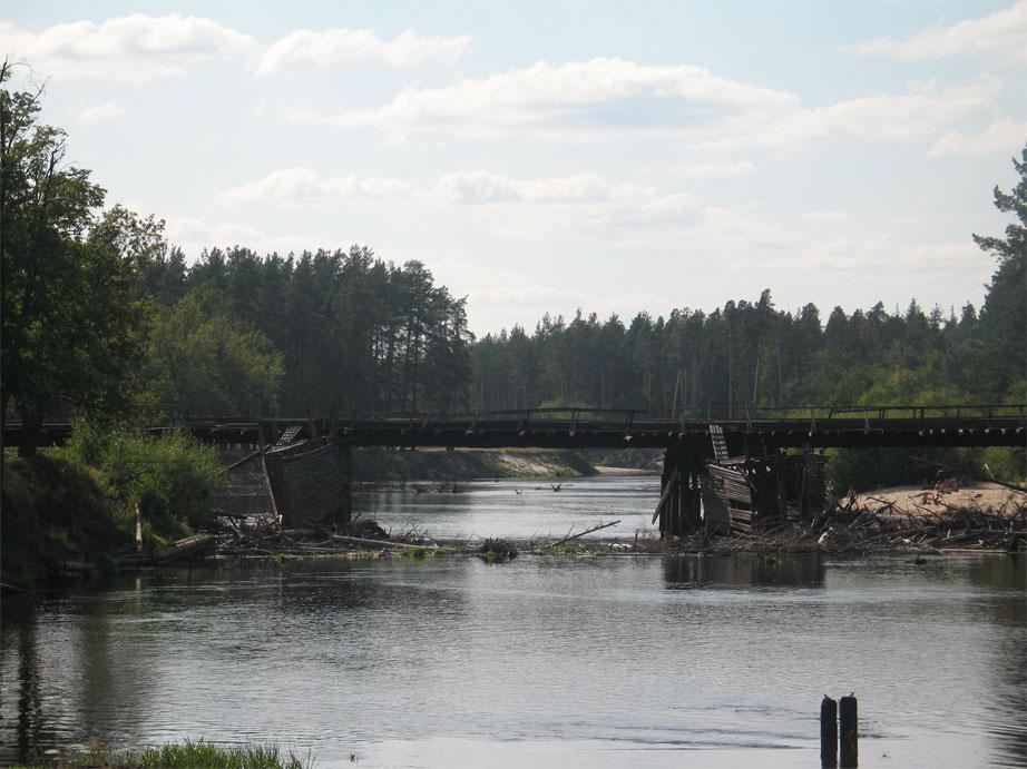 Мост через реку Лух