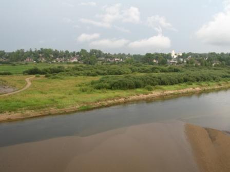 Кологрив. Вид с моста на р. Унжа